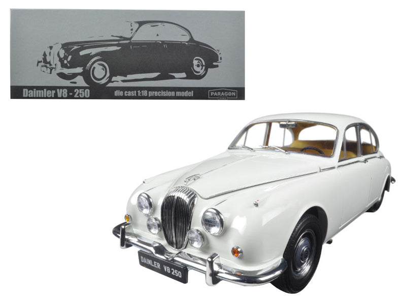 1967 Daimler V8-250 English White Left Hand Drive 1/18 Diecast Model Car by Paragon - BeTovi&co