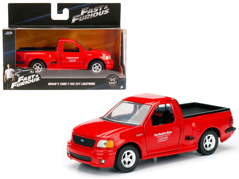 Brian - BeTovi&cos 1999 Ford F-150 SVT Lightning Red 'Fast & Furious' Movie 1/32 Diecast Model Car by Jada - BeTovi&co