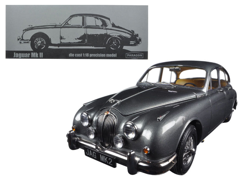 1962 Jaguar Mark 2 3.8 Gunmetal Left Hand Drive 1/18 Diecast Model Car by Paragon - BeTovi&co