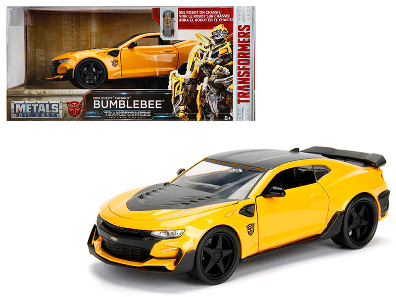 2016 Chevrolet Camaro Bumblebee Yellow From 'Transformers' Movie 1/24 Diecast Model Car by Jada Metals - BeTovi&co