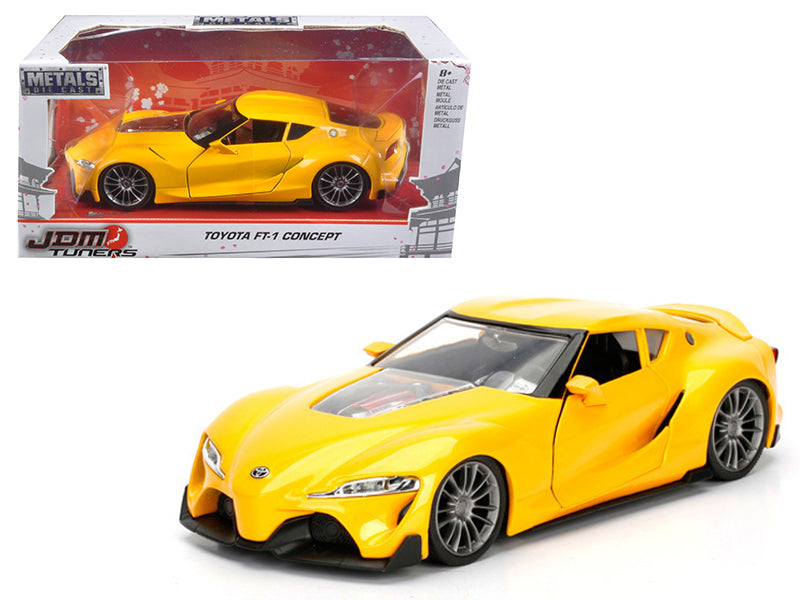 Toyota FT-1 Concept Yellow JDM Tuners 1/24 Diecast Model Car by Jada - BeTovi&co