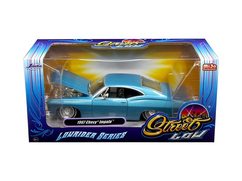 1967 Chevrolet Impala Blue 'Lowrider Series' Street Low 1/24 Diecast Model Car by Jada - BeTovi&co
