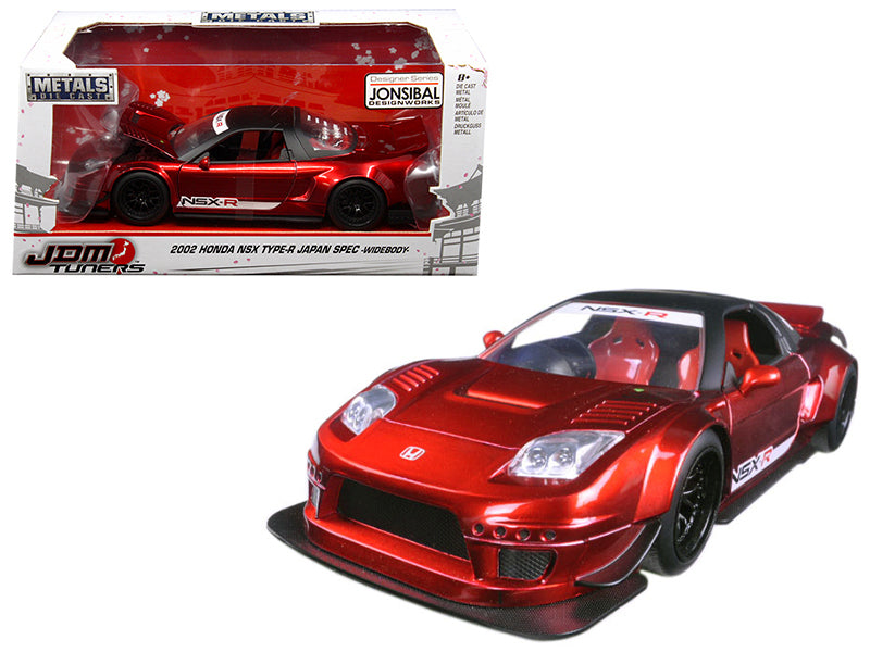 2002 Honda NSX Type-R Japan Spec Candy Red Widebody JDM Tuners 1/24 Diecast Model Car by Jada - BeTovi&co