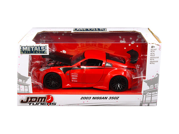 2003 Nissan 350Z Red 'JDM Tuners' 1/24 Diecast Model Car by Jada
