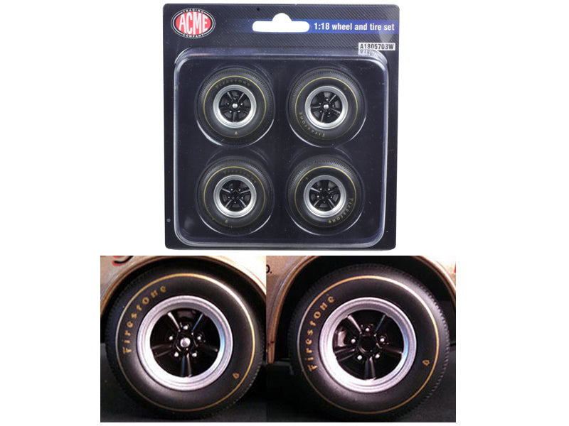 1st 1967 Chevrolet Camaro Z/28 Race Wheels and Tires Set of 4 1/18 by Acme - BeTovi&co