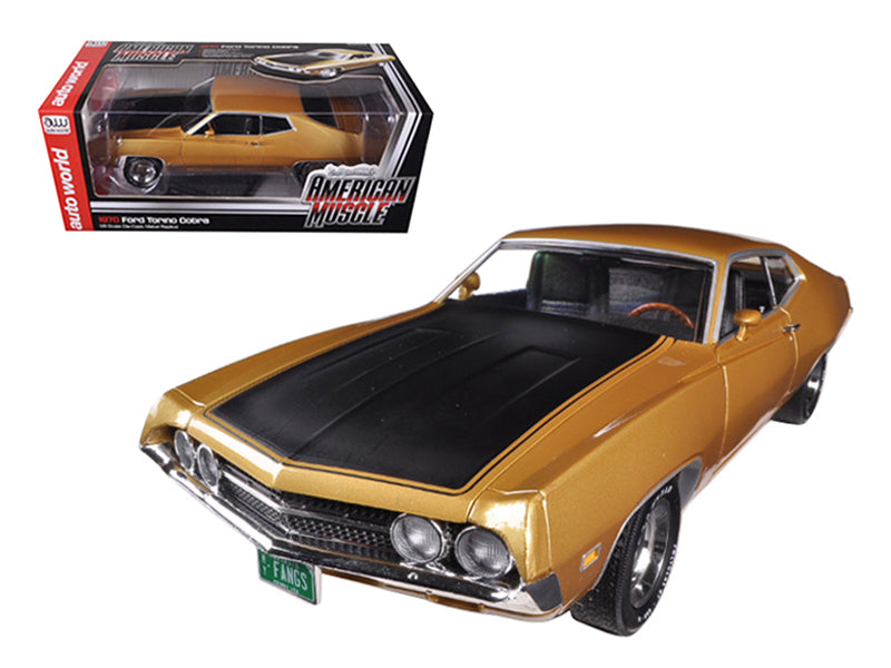 "1970 Ford Torino Cobra 429 4V Bright Gold Poly Code \K"" 1/18 Limited to 1250pc by Autoworld"" - BeTovi&co"