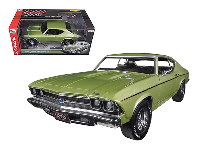 1969 Chevrolet Chevelle COPO 427 Frost Green Limited Edition to 1002pc 1/18 Diecast Model Car by Autoworld - BeTovi&co