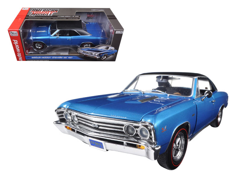 1967 Chevrolet Chevelle SS 427 Baldwin Motion Limited Edition to 1002pc 1/18 Diecast Model Car by Autoworld - BeTovi&co