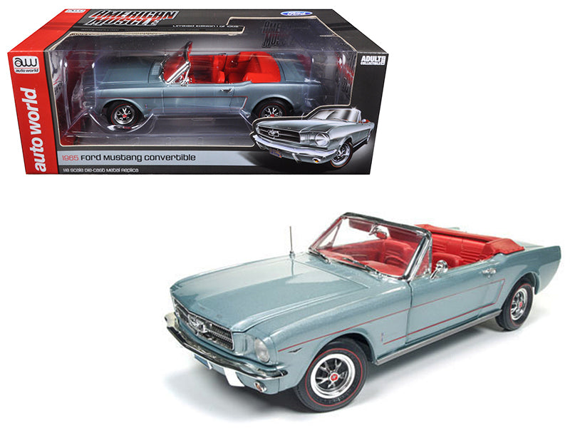 1965 Ford Mustang Convertible Silver Smoke Gray Limited Edition  1/18 - BeTovi&co