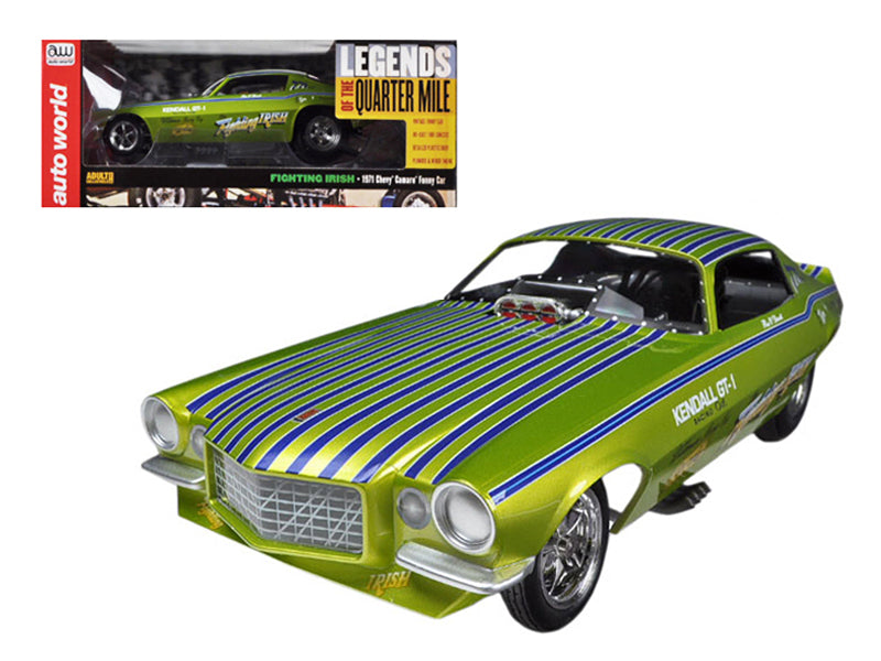 1971 Chevrolet Camaro Fighting Irish NHRA Funny Car 1/18 Model Car by Autoworld - BeTovi&co