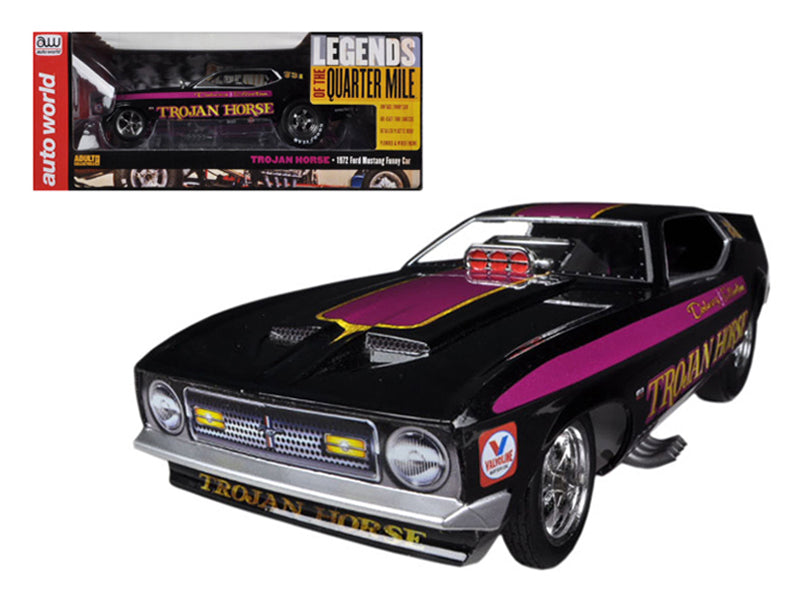 1972 Ford Mustang Trojan Horse NHRA Funny Car Model Limited to 1500pc 1/18 Model Car Autoworld AW1122 - BeTovi&co