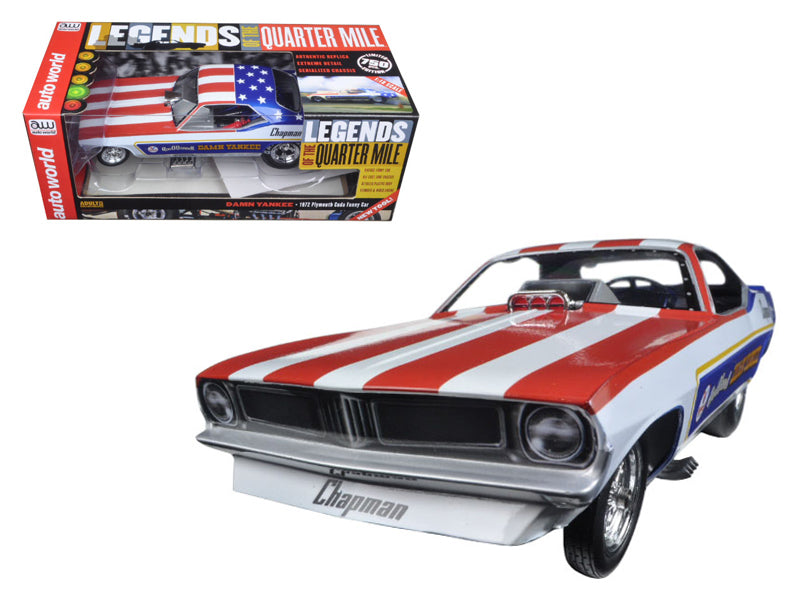 Ron O - BeTovi&coDonnell - BeTovi&cos 1970 Plymouth Cuda Funny Car 'Damn Yankee' Limited Edition to 750pc Worldwide 1/18 Model Car by Autoworld - BeTovi&co