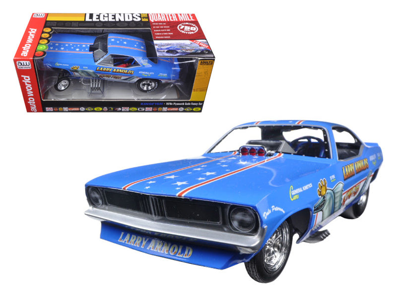 Larry Arnold - BeTovi&cos King Fish 1970 - BeTovi&cos Plymouth Cuda Funny Car Limited Edition to 750pcs 1/18 Model Car by Autoworld - BeTovi&co