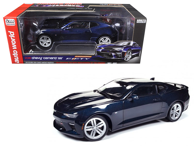 2016 Chevrolet Camaro SS Blue Velvet Metallic Celebrating 50th Anniversary Limited Edition to 1002pcs 1/18 Diecast Model Car by Autoworld - BeTovi&co