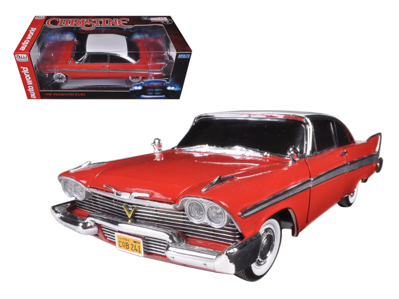 "1958 Plymouth Fury \Christine"" Night Time Version 1/18 Diecast Model Car by Autoworld"" - BeTovi&co"