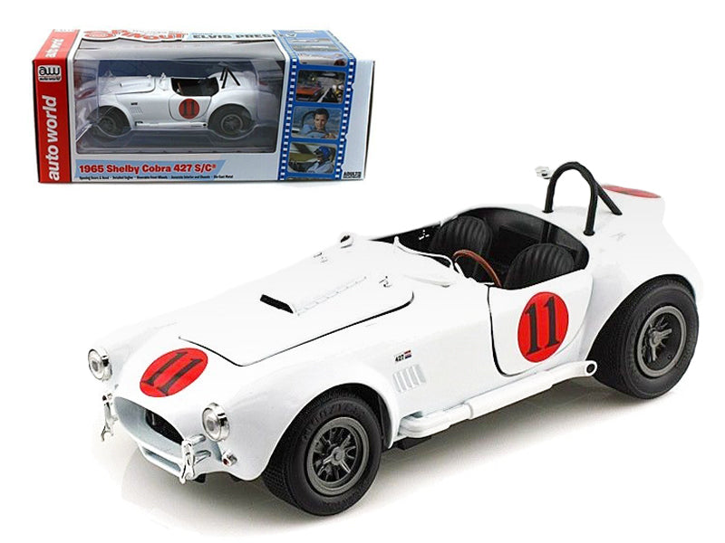 "1965 Shelby Cobra 427 S/C #11 \Spinout"" Movie Elvis Presley Limited to 2500pc Worldwide 1/18 Diecast Model Car by Autoworld"" - BeTovi&co"