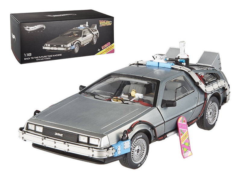Elite Cult Classics Back To The Future Time Machine Delorean with Extras and Mr. Fusion 1/18 Diecast Car Model by Hotwheels - BeTovi&co