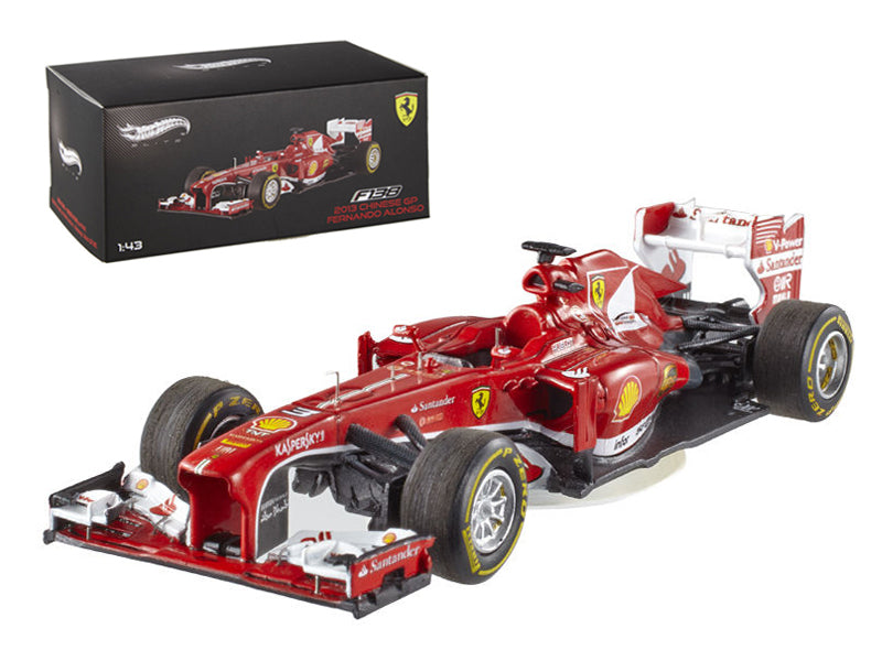 Elite Ferrari F2013 F138 Fernando Alonso Formula 1 2013 F1 China GP 1/43 Diecast Car Model by Hotwheels - BeTovi&co
