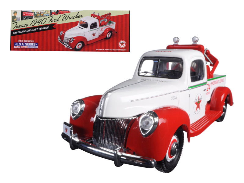 "1940 Ford Tow Truck Wrecker \Texaco"" 1/18 Diecast Model by Autoworld"" - BeTovi&co"
