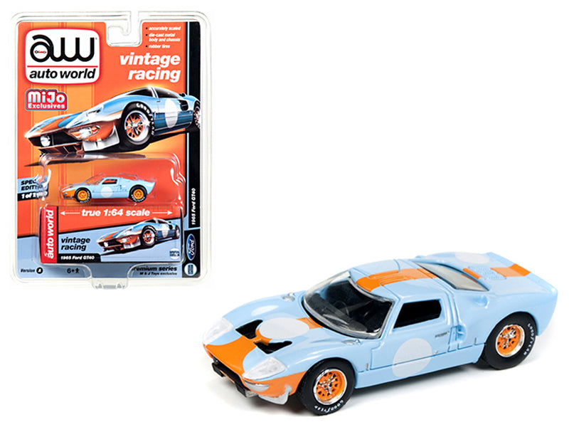 1965 Ford GT40 Vintage Racing 1/64 Diecast Model Car by Autoworld - BeTovi&co