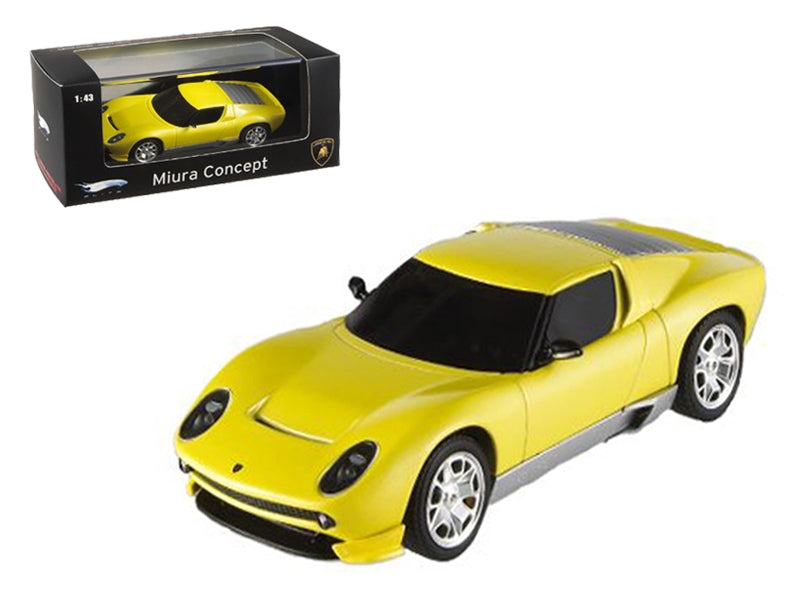 Lamborghini Miura Concept Yellow Elite Edition 1/43 Diecast Model Car by Hotwheels - BeTovi&co
