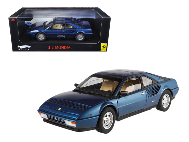Ferrari Mondial 3.2 Elite Edition Blue 1 of 5000 Produced 1/18 Diecast Car Model by Hotwheels - BeTovi&co