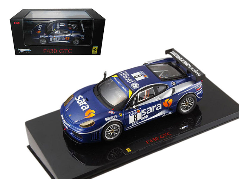Ferrari F430 GTC #8 Blue Elite Edition 1/43 Diecast Model Car by Hotwheels - BeTovi&co