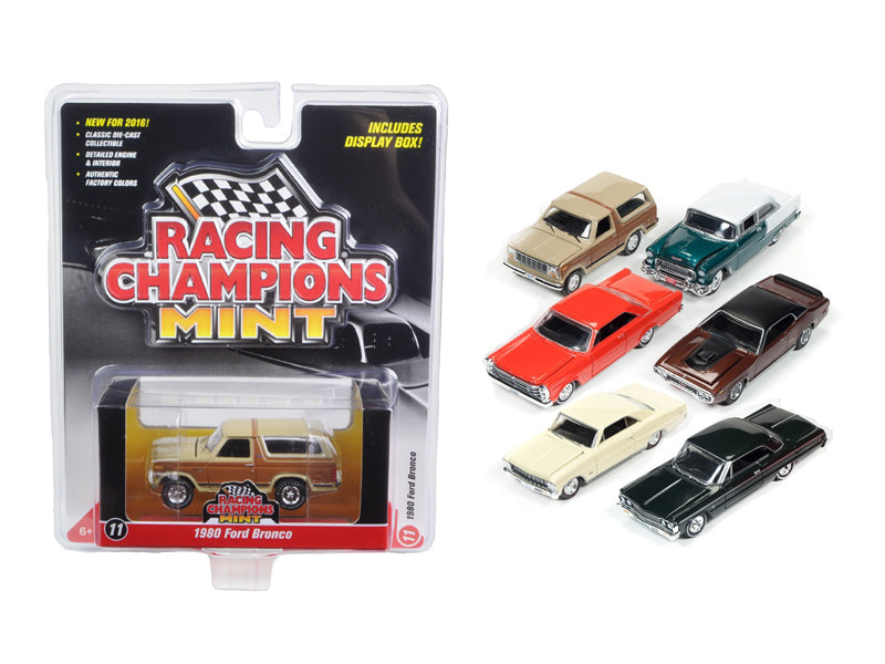 Mint Release 2 Set A Set of 6 cars 1/64 Diecast Model Cars by Racing Champions - BeTovi&co