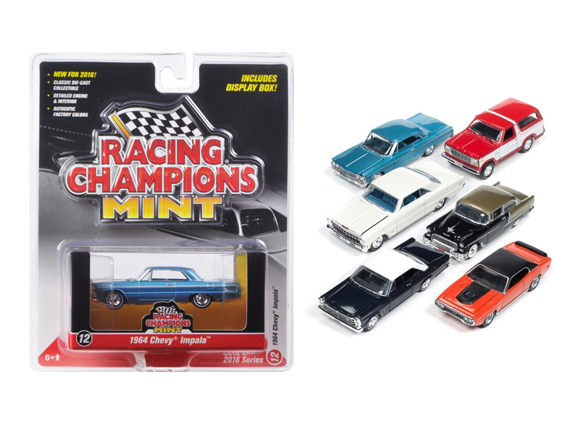 Mint Release 2 Set C Set of 6 cars Limited Edition  1/64 Diecast Model Cars by Racing Champions - BeTovi&co
