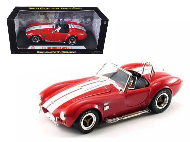 1965 Shelby Cobra 427 S/C Red 1/18 Diecast Model Car by Shelby Collectibles - BeTovi&co