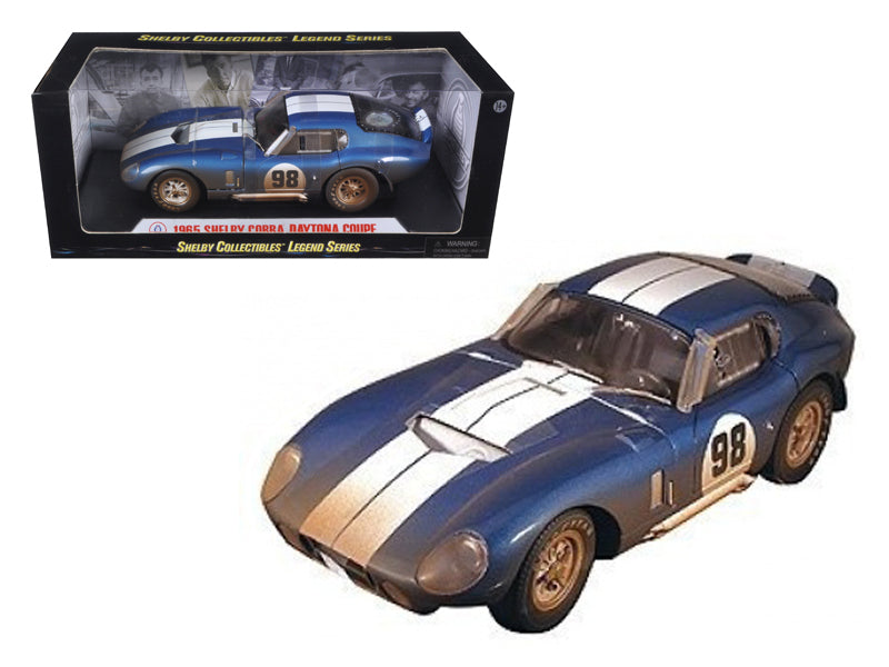 1965 Shelby Cobra Daytona #98 After Race Dirty Version Diecast Car Model 1/18 by Shelby Collectibles - BeTovi&co