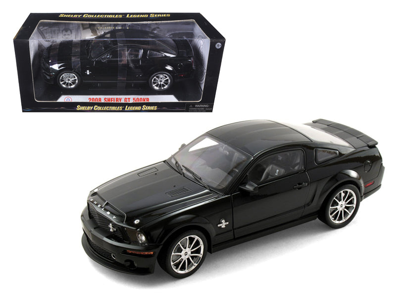 2008 Ford Shelby Mustang GT500KR Black 1/18 Diecast Model Car by Shelby Collectibles - BeTovi&co