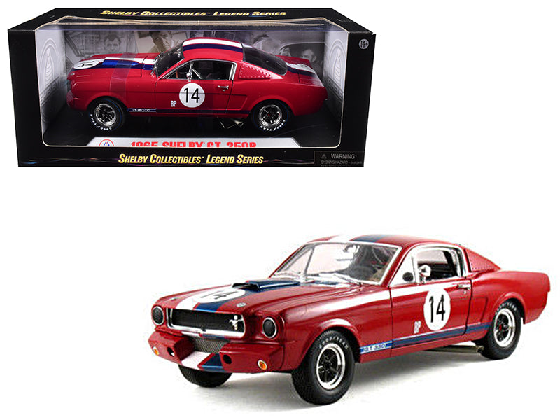 1965 Ford Shelby Mustang GT350R Red #14 1/18 Diecast Car Model by Shelby Collectibles - BeTovi&co
