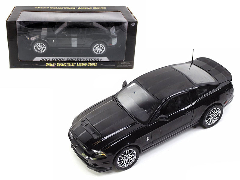 2013 Ford Shelby Cobra GT500 SVT Black with Chrome Wheels 1/18 Diecast Model Car  by Shelby Collectibles - BeTovi&co