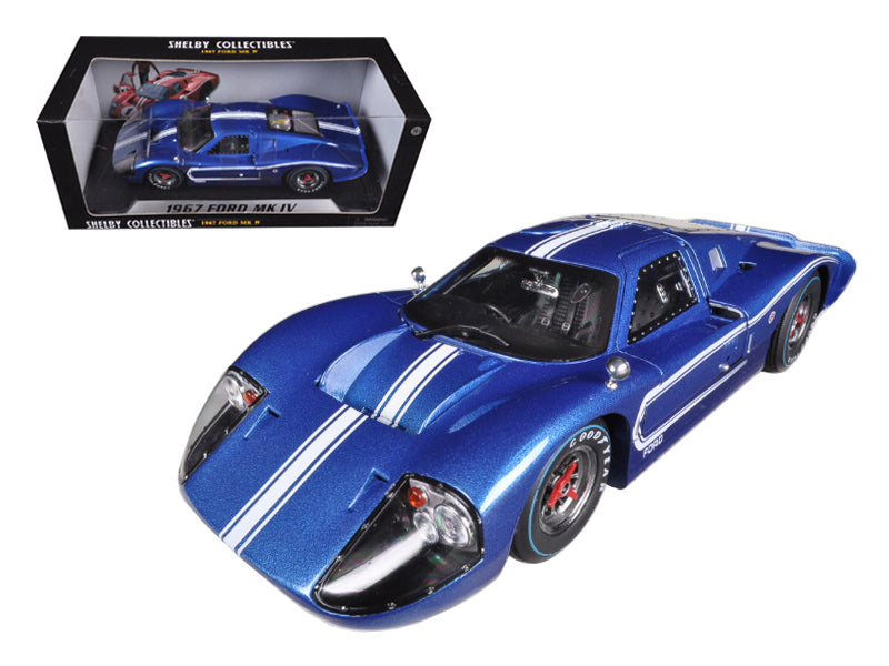 1967 Ford GT MK IV Blue 1/18 Diecast Car Model by Shelby Collectibles - BeTovi&co