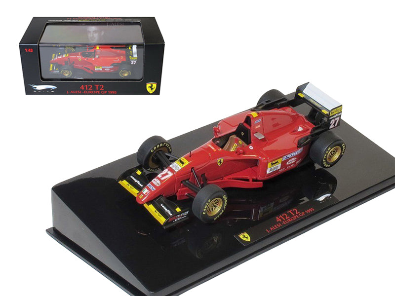 Ferrari 412 T2 #27 J.Alesi Europe GP 1995 Elite Edition 1/43 Diecast Model Car by Hotwheels - BeTovi&co