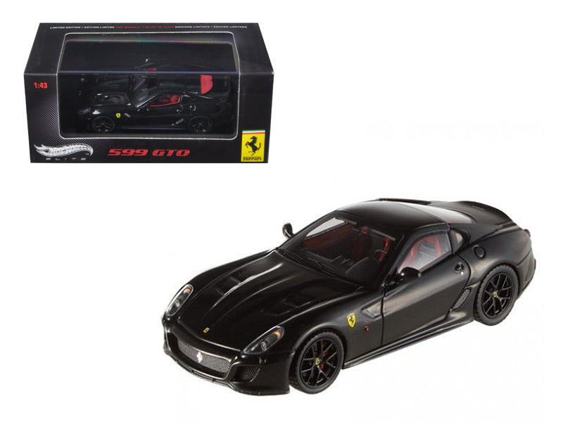 Ferrari 599 GTO Black Elite Edition 1/43 Diecast Car Model by Hotwheels - BeTovi&co