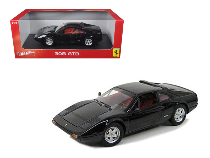 Ferrari 308 GTB Black 1/18 Diecast Car Model by Hotwheels - BeTovi&co