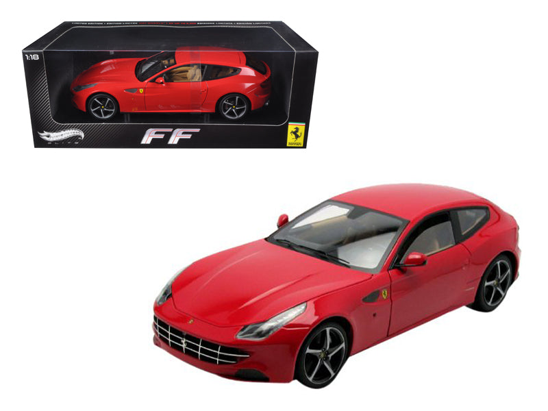 Ferrari FF GT V12 4 Seater Red Elite Edition 1/18 Diecast Car Model by Hotwheels - BeTovi&co