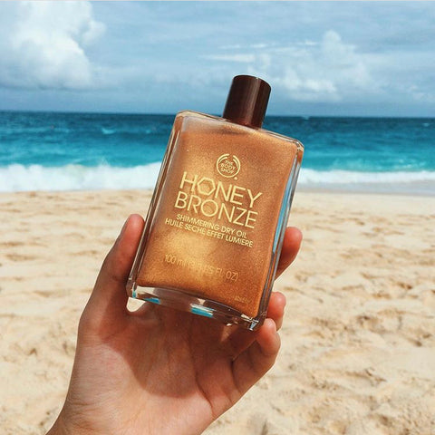 Best Body Shimmer Oil - Body Shop Honey Bronze Oil - Fairtrade