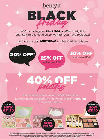 BENEFIT Black Friday Beauty Discounts