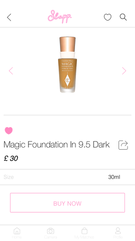 Slapp App Foundation Finder My Shade Charlotte Tilbury