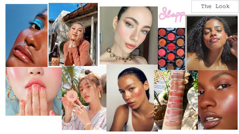 Slapp Spring makeup mood board blusher on eyes lips and cheeks beauty looks ideas