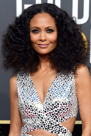 Best Dressed - Golden Globes - Slapp  App - Thandie Newton makeup hair