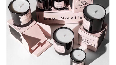 boy smells candles uk
