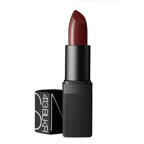 Nars 413 BLKR Semi matte lipstick dark red