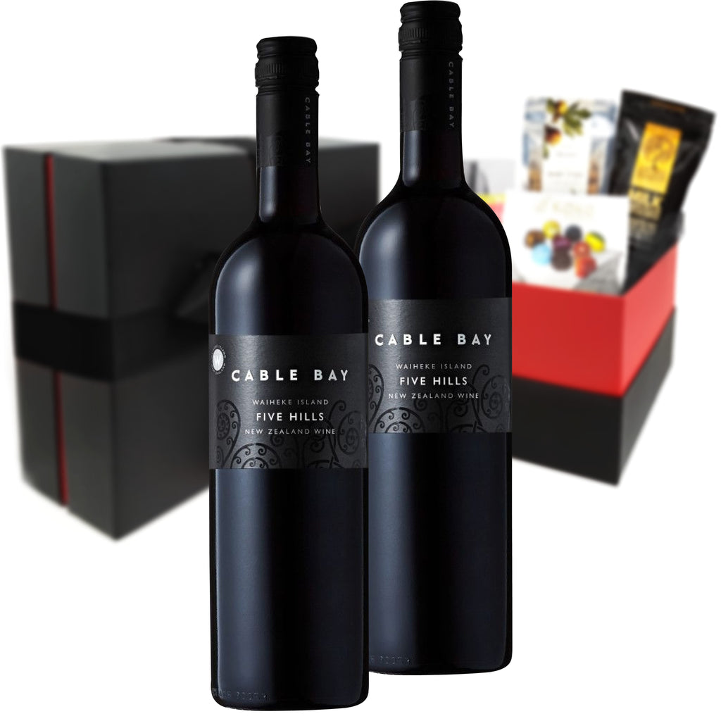 Cable Bay Five Hills Merlot Malbec 2015 750ml Duo