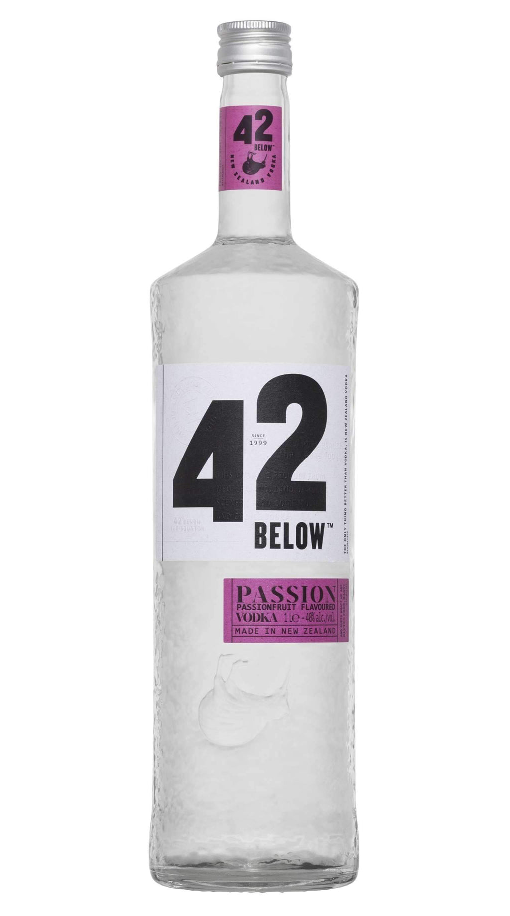 42 Below Pure Vodka 40% 1000ml Passionfruit