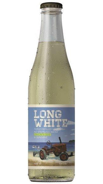 Long White Vodka (Lemon & Lime) 320ml Bottles x 10 Pack