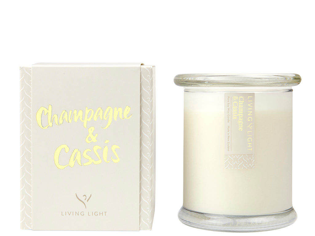 Living Light Champagne and Cassis Candles
